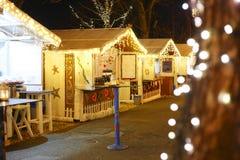 Mercado adornado de la Navidad Imagen de archivo