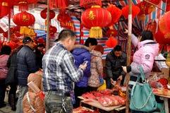 Mercado al aire libre chino del Año Nuevo Fotografía de archivo libre de regalías