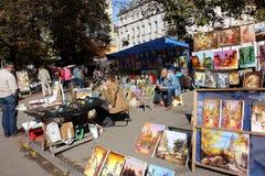 Mercado al aire libre del arte Foto de archivo libre de regalías