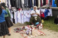Mercado al aire libre en Rumania fotografía de archivo libre de regalías