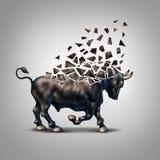 Mercado alcista frágil stock de ilustración