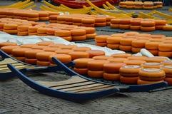 Mercado Alkmaar Países Bajos del queso Imágenes de archivo libres de regalías