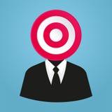 Mercado-alvo estilizado do homem de negócios, grupo específico de A dos consumidores em que uma empresa aponta seus produtos e se Fotografia de Stock Royalty Free