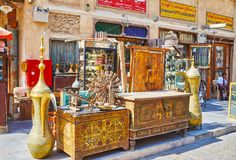 Mercado antigo em Doha, Catar Fotos de Stock Royalty Free