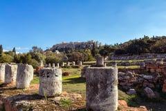 Mercado antiguo de Atenas Imagenes de archivo