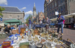 Mercado antiguo en Delft Foto de archivo libre de regalías