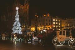 Mercado anual de la Navidad Foto de archivo