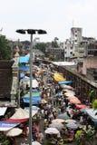 Mercado apretado Fotos de archivo libres de regalías