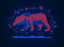 Mercado bajista ilustración del vector