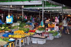 Mercado barato en Bandar Seri begawan, Brunei. imagenes de archivo