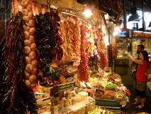 Mercado Barcelona de Boqueria Imagen de archivo libre de regalías