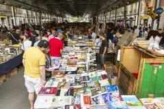 Mercado Barcelona España de San Antonio del libro Foto de archivo libre de regalías