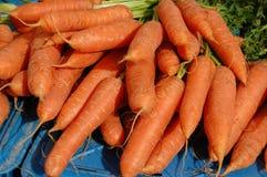 mercado biológico das cenouras Foto de Stock Royalty Free