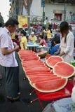 Mercado birmano Imágenes de archivo libres de regalías