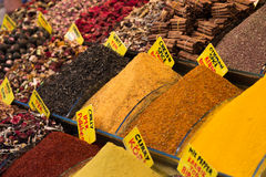 Mercado bizzaar grande da especiaria foto de stock