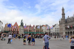 Mercado Bruges Bélgica Imagem de Stock Royalty Free