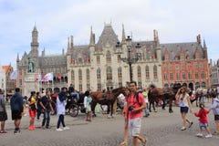 Mercado Bruges Bélgica Imagem de Stock
