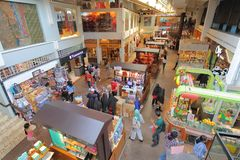 Mercado callejero central Kuala Lumpur Malaysia foto de archivo