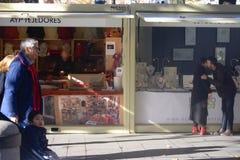 Mercado callejero de Christnas en Sevilla 03 Fotos de archivo libres de regalías