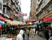 Mercado callejero de Hong Kong ocupado fotos de archivo libres de regalías