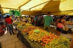 Mercado callejero de Queixo Dantas en el Brasil fotografía de archivo