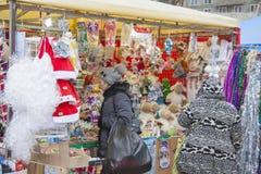 Mercado callejero del Año Nuevo Foto de archivo libre de regalías