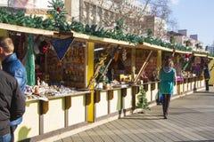 Mercado callejero del Año Nuevo Venta en Krasnodar Imagenes de archivo