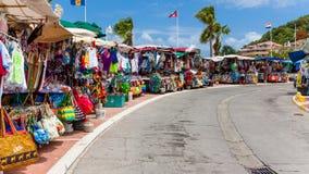Mercado callejero del St Maarten Fotografía de archivo libre de regalías