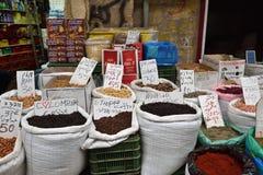 Mercado callejero en Akko, Israel fotografía de archivo libre de regalías