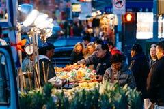 Mercado callejero en Nueva York Fotografía de archivo