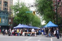 Mercado callejero en Vancouver Fotos de archivo libres de regalías