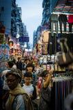 Mercado callejero Hong-Kong de Mong Kok foto de archivo