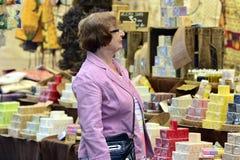 Mercado callejero internacional 2014 Fotos de archivo libres de regalías