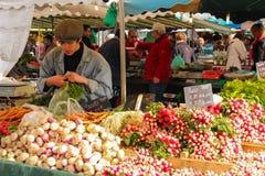 Mercado callejero viajes francia fotos de archivo libres de regalías