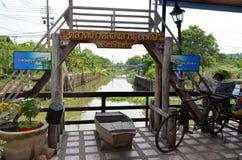 Mercado centenário de Khlong Suan perto de Banguecoque, Tailândia fotografia de stock royalty free