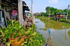 Mercado centenario de Khlong Suan cerca de Bangkok, Tailandia Foto de archivo libre de regalías