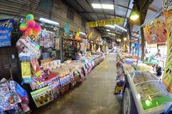 Mercado centenario de Khlong Suan cerca de Bangkok, Tailandia Imagen de archivo libre de regalías