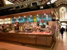 Mercado central - central de Mercado en Plaza Ciudad De Brujas, Valencia Imágenes de archivo libres de regalías