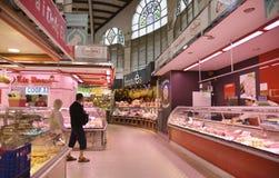 Mercado central - central de Mercado en Plaza Ciudad De Brujas, Valencia Imagen de archivo libre de regalías