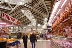 Mercado central - central de Mercado en Plaza Ciudad De Brujas, Valencia Fotografía de archivo