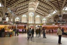 Mercado central - central de Mercado en Plaza Ciudad De Brujas, Valencia Fotos de archivo