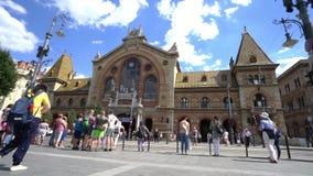 Mercado central cubierto en Budapest almacen de metraje de vídeo