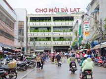 Mercado central de Dalat, Vietnam Foto de archivo libre de regalías