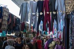 Mercado central de la ropa de Antalya Imágenes de archivo libres de regalías