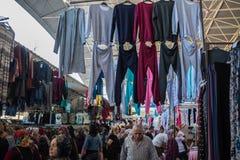 Mercado central de la ropa de Antalya Fotografía de archivo libre de regalías