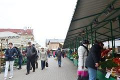Mercado central de Riga Fotografía de archivo libre de regalías