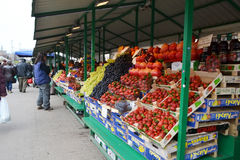 Mercado central de Riga foto de stock