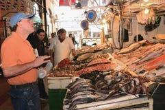 Mercado central de Santiago, Chile Imagen de archivo libre de regalías