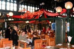 Mercado central de Santiago, o Chile Foto de Stock Royalty Free