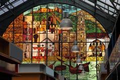 Mercado central em Malaga, Espanha Imagens de Stock